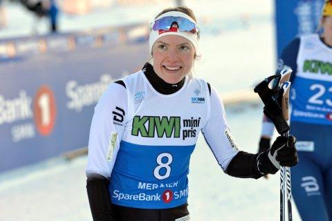 Lillehammer-løperen Magni Smedås, som er tremenningen til Therese Johaug, var godt fornøyd med at hun gikk til semifinalen.