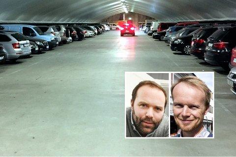 Styreleder Birger Sand Bakke og daglig leder Eirik Haagensen i Lillehammer Parkering har tatt en fot i bakken.