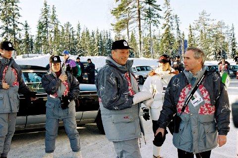 KONGEPARET: SLik så de ut i 1994. Lørdag er kong Harald og dronning Sonja tilbake i Lillehammer - for å mimre om OL-dagene for 25 år siden