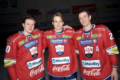 Mads Homdrom, Emil Nyhus og Brendan Ellis signerte alle nye kontrakter med Lillehammer IK etter kampslutt i Eidsiva Arena torsdag.