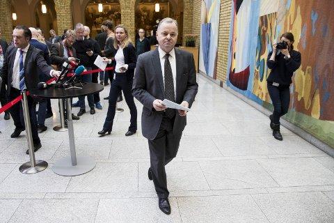 SAMMENSATT: Mange årsaker ledet fram til at Olemic Thommessen gikk av som stortingspresident 15. mars 2018.