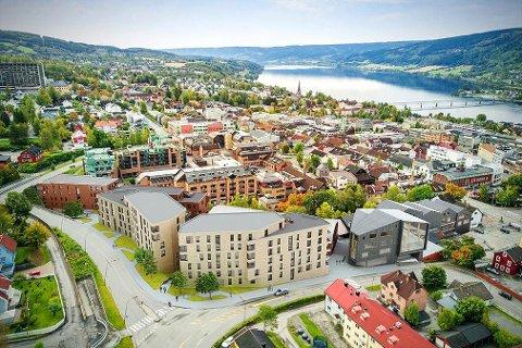 Sentrum styrkes: «Alle» vil styrke sentrum i Lillehammer. Men hvordan?Foto-montasje: DNB Eiendom/Smedvig