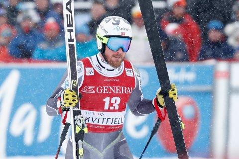 Kjetil Jansrud kjørte inn til NM-sølv under mesterskapet i Hemsedal.