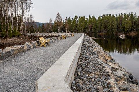 – Området er nå åpent og tilrettelagt for bruk og ferdsel, sier Ragnhild B. Abrante i Eidsiva.