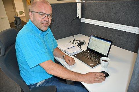 Arne Christian Mæhlum er ny på jobben.