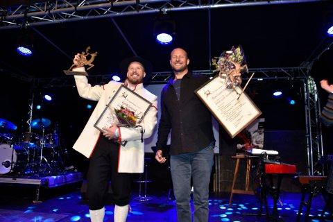 Her er heder og ære tildelt Kjetil Jansrud og Aksel Lund Svindal.