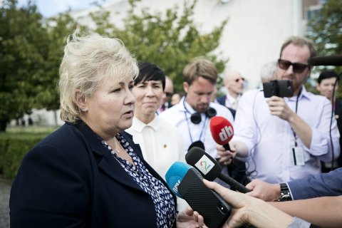 ØNSKETENKNING: Erna Solberg ønsker å være statsminister til 2025.