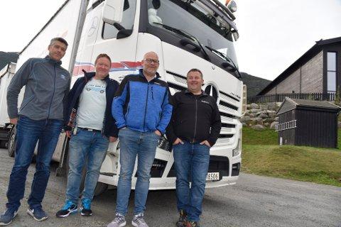 Terje Bosmen, Bjørn Ola Aukrust, Terje Aurmo og Andrè Sørhage kjemper for bedre forhold for næringslivet i Ottadalen.