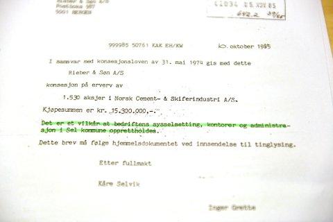 Dette brevet kan bli sentralt for Mineras videre eksistens på Otta.