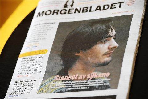 KONFLIKT: Over seks sider brettet Morgenbladet ut konflikten ved Kunsthøgskolen sist lørdag, med lillehamringen Magnus Vanebo som hovedkilde.