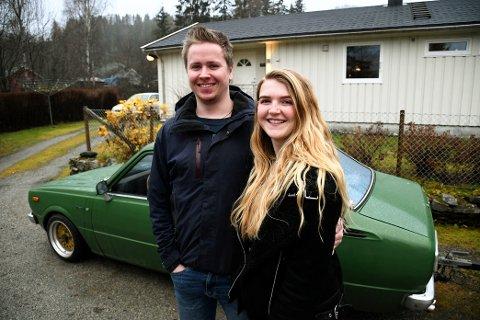 May Lena Myrvold (23) og Tor Martin Nettum (26) fikk oppfylt boligdrømmen på Fåvang.