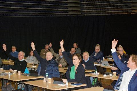 FORESLO AVVIKLING: Marianne Gunnerud ( foran)og Høyre vil avvikle arbeidsutvalget for budsjett og omstilling, fordi de mener det går utover den økonomiskke debatten i formannskapet. Forslaget ble stemt ned av flertallet i kommunestyret.