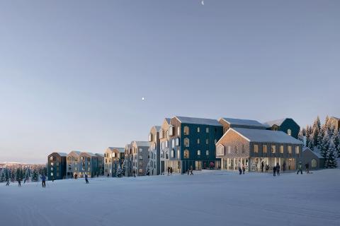 FAVN heter et nytt leilighetskompleks på Mosetertoppen. På 5,4 dekar skal det bygges over 200 leiligheter.