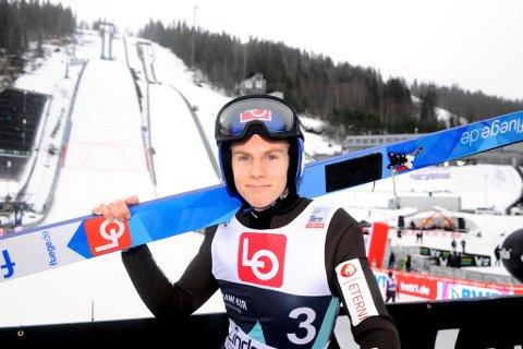 Lillehammer-hopperen Mats Bjerke Myhren kjente på frykten og bestemte seg nylig for å legge opp. Her fra Raw Air Lillehammer 2020.