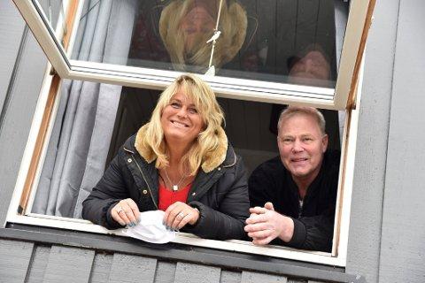 Nina og Pål Werner Haug er glade for å være sammen igjen etter en turbulent og vanskelig periode som følge av korona-pandemien.