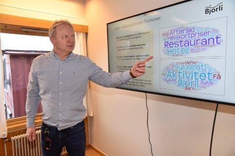 Kommunedirektøren i Lesja, Frank Westad, peker på suksessfaktorer som må til for å videreutvikle Bjorli som reiselibsdestinasjon både sommer og vinter.