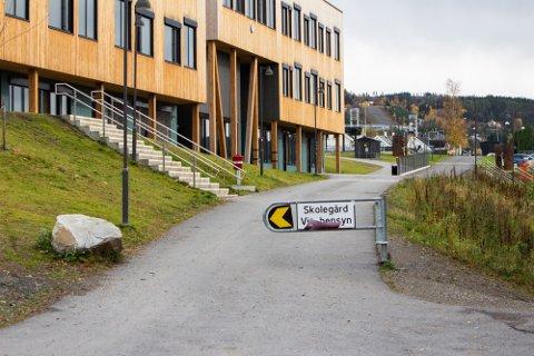 GJENNOMFARTSÅRE: Gang- og sykkelveien på Nordre Ål skole tar deg fra Teigvegen og til Gamle Kringsjåvegen.