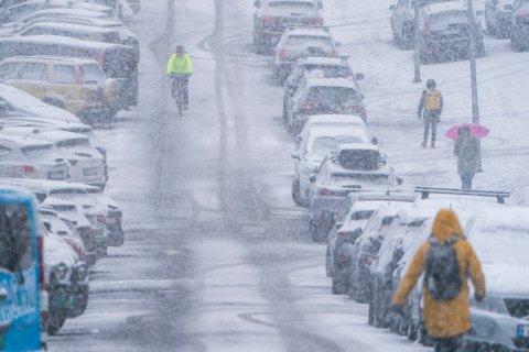 Meteorologen er sikker på at det blir snø natt til tirsdag og  tirsdag morgen.