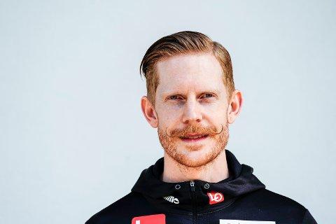 Skihopper Robert Johansson under pressekonferansen for hopp menn under VM på ski 2021 i Oberstdorf.