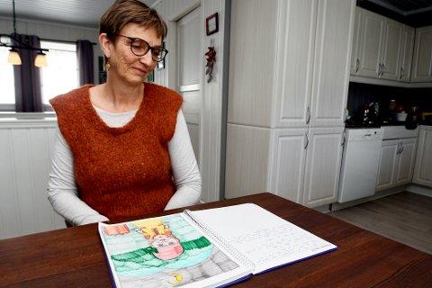 Arnhild Søndrol ble oppfordret til å skrive en dagbok da hun ble syk.