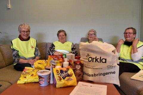 Aud Leren, Rutt Aud Spjeldnes, Marit Stormorken og Åse Flåtten gleder seg over å kunne hjelpe andre.