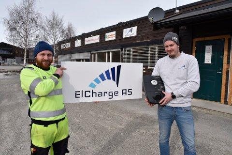 Pål Brenden er styreleder og Lars Øystein Kleppa  daglig leder i selskapet som satser på ladere til el-biler.