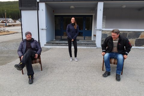 Gjermund Øihusom, Jeanette Olderløkken og Jo Ivar Kleiven i Lalm Arbeiderlag syr sammen et 1. mai-arrangement med fokus på smittevern.