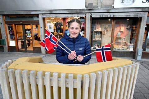 Kristine Ressem Haugen, elevrådsleder ved Smestad ungdomsskole, skal holde 17. mai-tale i Lillehammer.