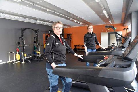 Kari Hole og Sigrid Lyftingsmo i det nye treningsseneret.