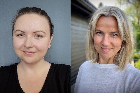 NYANSATTE: Benedicte Kvalsund (29) (t.v.) og Kristina Skamsar (44) skal jobbe i kommunikasjonsavdelingen hos Statsforvalteren i Innlandet.