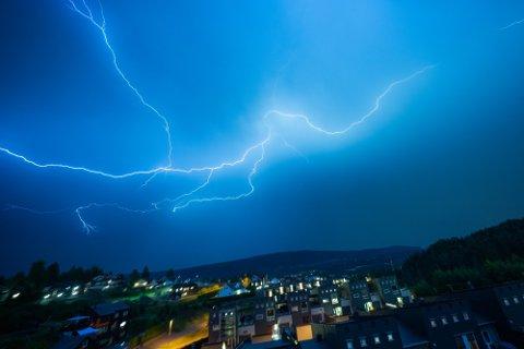 Lillehammer er mest utsatt for lyn og torden og styrtregn i GDs område.