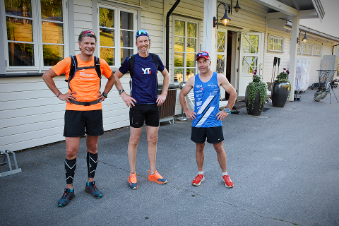 SPREKT: Erik Lagethon, Oskar Aarnes og Anders Bergum testløp traséen som går fra Fjøssystemer i Fåvang til Nermo hotell i Øyer.