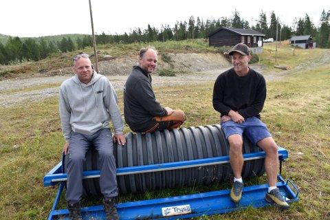 Kai Ove Gården, Øistein Formo og Brage Weldingh i området som nå skal videreutvikles.