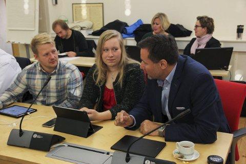 NYE ANSIKTER: Martin Fægri (f.v.), Gina Roen og Nils Erik Mossing (alle Ap) har alle fått varaplass eller fast plass i en eller flere komiteer. Mossing skal lede Oppvekst- og kulturkomiteen de neste fire årene.