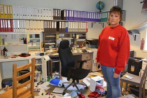 OPPGITT: Daglig leder i Grua barnehage, Lene Nordberg, er oppgitt over at noen bryter seg inn i en barnehage.