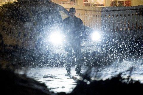 Åstedet: Tiltalte varslet selv om hva som hadde hendt, og politiet rykket raskt ut til boligen der drapet skjedde på kvelden 9. januar. Foto: Jon Olav Nesvold / NTB scanpix