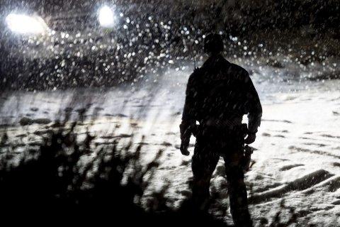 Åstedet: Politiet på åstedet etter drapet på kvelden lørdag 9. januar i fjor. Foto: Jon Olav Nesvold / NTB scanpix