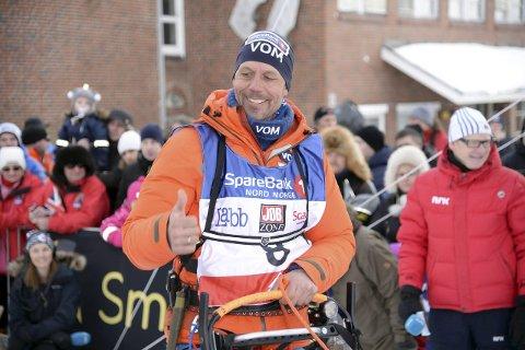 GAVE: Didrik Lindeberg Sand fra Brandbu fikk Finnmarksløpet i bryllupsgave av sin kone, Nina Skramstad. Foto: Morten Broks