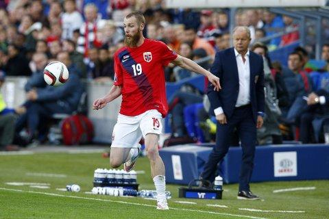 I FORM: Jo Inge Berget scoret ikke, men var likevel blant Norges mest positive spillere mot Estland. Han starter trolig mot Finland på Ullevaal tirsdag kveld. Foto: Håkon Mosvold Larsen / NTB scanpix
