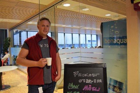 POPULÆRT: Miljøkoordinator Eivind Førland var intervjuet av Hadeland i 2017 om gratis frokost på skolen. Da sa han at det er et populært tilbud for elever som ikke rekker å spise hjemme.