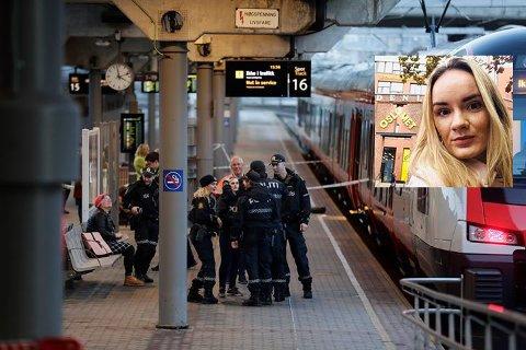 Jolita Banceviciute satt i samme vogn som knivstikkingen skjedde på Oslo S mandag ettermiddag.