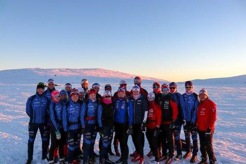 SAMLING: Utøvere fra Hadeland videregående skole, Team Hadeland og Team Lygna har vært samlet på Beitostølen en uke.