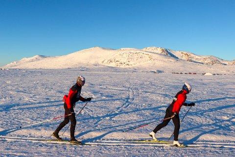 TRENINGSAMLING: Lokale skiløpere har vært på samling på Beitostølen en uke.