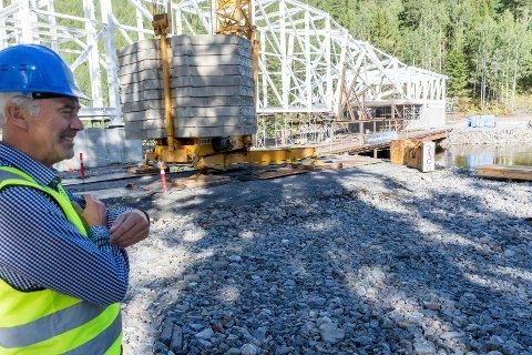 GLEDER SEG: 1. juli i 2019 blir Egil Eides siste dag som Kistefos-direktør. Da skal også den nye bygningen stå klar.