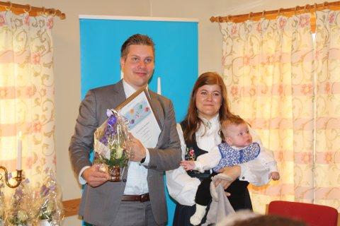 TRYM: Trym Strige Kvarme og foreldrene Maritha Strige og Joakim Kvamme.