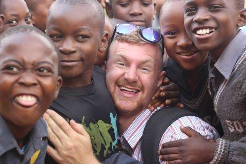 FRIVILLIG: Haakon Oppen Schiøtz angrer ikke på oppholdet i Malawi. Her jobbet frivillig som lærer.