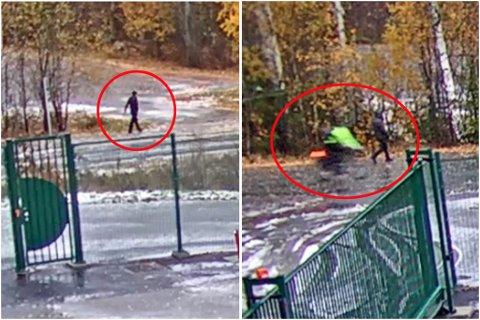 ETTERLYST: Disse tre personene ønsker politiet å komme i kontakt med etter at de ble observert utenfor arbeidsplassen til Tom Hagen (68) på Rasta i Lørenskog. Foto: Politiet