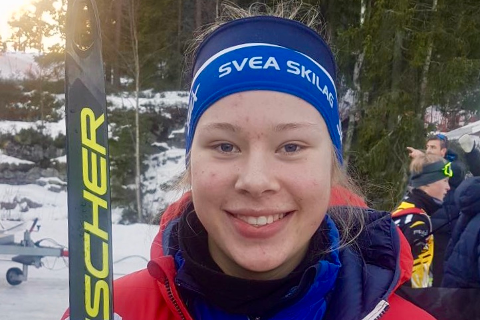 STAFETT: Det ble fjerdeplass på Anna Heggen og de andre på laget i søndagens stafett.