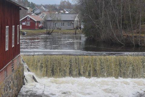 FOSS: Vigga i foss ved Rosendalsmølla.