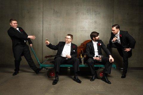TIL GLASSLÅVEN: Oslo Fat String Quartet kommer til på Glasslåven 15. juni.